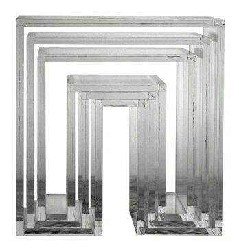 アボード ネスティングテーブル 3個セット クリア リビングテーブル お年賀 おしゃれ かわいい abode オーディオ 机 デスク テレビ台 棚 テーブル 収納 ベンチ 収納 いす 椅子 イス チェア デザイナーズ家具 デザイン モダン シンプル 北欧スタイル