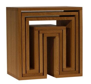 アボード ネスティングテーブル 3個セット ナチュラル リビングテーブル お年賀 おしゃれ かわいい abode オーディオ 机 デスク テレビ台 棚 テーブル 収納 ベンチ 収納 いす 椅子 イス チェア デザイナーズ家具 デザイン モダン シンプル 北欧スタイル