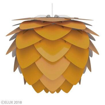 UMAGE(ウメイ) Aluvia saffron yellow(イエロー) (3灯/ブラックコード) ペンダントライト 02137-BK-3 お年賀 おしゃれ かわいい VITA ヴィータ デンマーク 照明器具 シーリングライト ライト ランプ 北欧 モダン シンプル 間接照明 天井照明