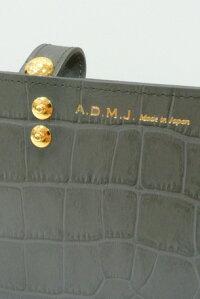 【A.D.M.J.】アクセソワA.D.M.J.◆クロコ調型押しレザースリムウォレット(3col.)