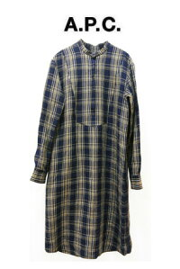 【NEW◆2021SS】☆A.P.C.☆チェックシャツワンピース(BLUE)LINACARREAUX