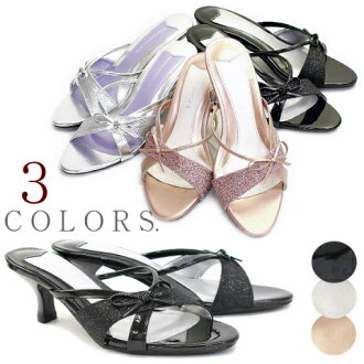 Mule / shinee / low heel / Ribbon / Bijou 10P13sep13