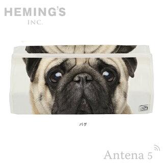 《全2色》HEMING'StenteANIMALFACEフテネコパグティッシュケース