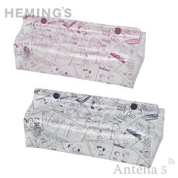 《全2色》HEMING'S tente スヌーピー CLEAR COMIC SNOOPY ティッシュケース 【SNOOPY ヘミングス テンテ デザイン雑貨 リビング インテリア Vintage PEANUTS】