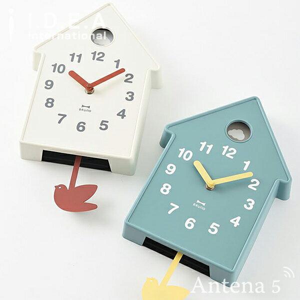《全2色》BRUNO バードモビールクロック 【ブルーノ IDEA イデアレーベル 壁掛け時計 インテリア デザイン雑貨 北欧 プレゼント ギフト お引越し 新生活 お祝い ウォールクロック 壁掛時計】