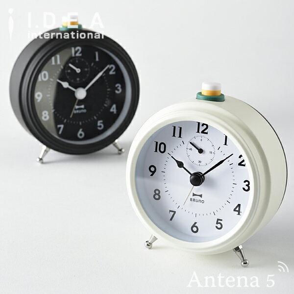 《全2色》BRUNO セカンドハンドアラームクロック 【ブルーノ IDEA イデアレーベル 置き時計 アナログ時計 目覚まし時計 デザイン雑貨 北欧 スモールセコンド スモセコ デスク ベッドサイド】