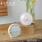 ビンテージウッドアラームクロック レーベル 置き時計 掛け時計 目覚まし デザイン