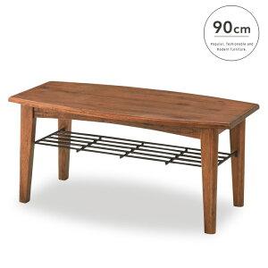 木製コーヒーテーブル90アンティーク北欧レトロ木木目カントリー棚棚付き収納便利シンプルスリムかわいいおしゃれ送料無料ティンバー190157