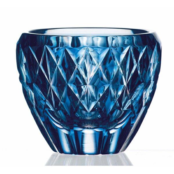 薩摩切子 ロックグラス (藍)