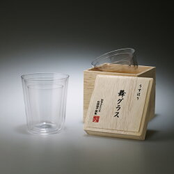 松徳硝子(ショウトクガラス)うすはり 舞グラス 木箱入り