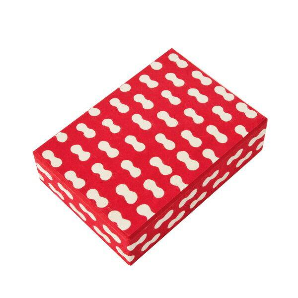 八尾和紙(桂樹舎) はがき箱 まゆ 赤