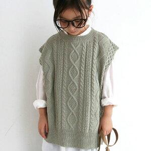 ベスト サッと着るだけで!ケーブルの編地で魅せる。・(80)◎メール便可 TOY