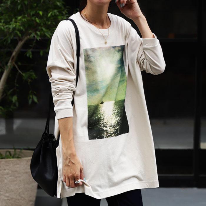 ロンT トレンド感ある、一枚でサマになるフォトロンTの長袖ver.が登場。・8月4日0時~発売。(100)メール便可...
