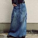 デニムサロペスカート カジュアルながらも大人っぽく仕立て、カッコ良く。・9月20日0時〜発売。メール便不可