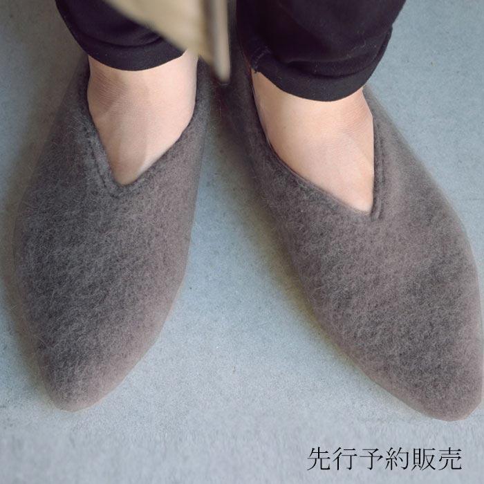 【予約:12月上~中旬納期】モヘアフラットシューズ パンプス 痛くない 歩きやすい 靴・11月14日0時~メール便不可...