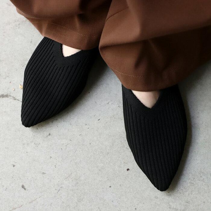 ニットパンプス 靴 パンプス 痛くない 歩きやすい 秋冬・11月9日0時~再販。発送は11/20~順次。メール便不可...