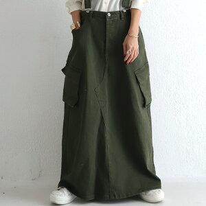 サロペットスカート シーズンレスで頼れる存在。大人可愛いこなれサロペ 送料無料・6月10日0時〜再再販。メール便不可(REV)