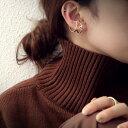 イヤリング ピアリング 正規品 ダイヤモンド 0.20ct K14WG(ホワイトゴールド) 耳たぶの下でゆらゆら揺れるスリーストーンダイヤモンド k14/14金【送料無料】