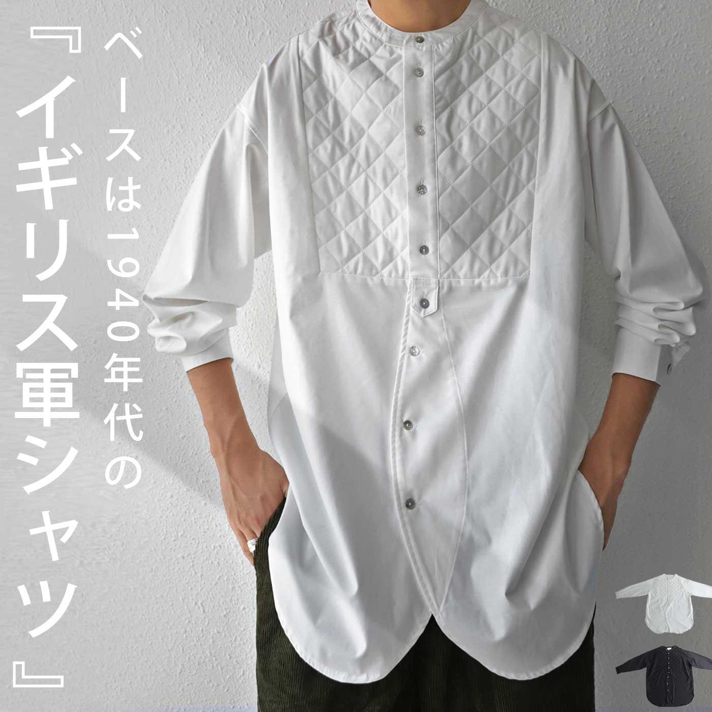 キルティング ブザムシャツ シャツ メンズ 長袖 送料無料・9月13日20時~発売。メール便不可【Z】