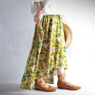 花柄×アシンメトリーで期待高まる。『しっとり、すとん、やわらかスカート。』これは美と個性の共演。花柄アシメスカート##