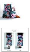 大輪の花を纏い個性あるスタイリングを楽しむ。『パッと視線を集める、大人気スカート。』6月4日20時〜発売!長めリブで着こなしを自在に広げる。2way花柄ロングスカート##l2