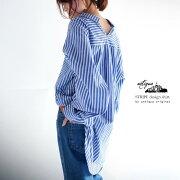 バッグドレープストライプシャツ ##【☆】