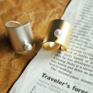 存在感があるモノ。パールデザインリング★太めパールリング指輪##
