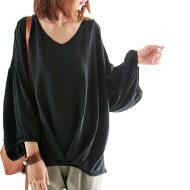 ふわっふわバルーン袖。バルーントップス★ブルーン袖見返し襟##