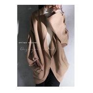 antiqua独自の定番コート。変形ドルマンコート★羽織りジャケット##