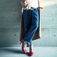 フリンジデザイン、カットオフデザインデニム。『裾のカット、カタチで違いを出す。』主役デニム決定。カットオフフリンジデニムパンツ##