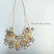 星、ボリューム、輝き重ねて。『華奢チェーンと瞬く星々のネックレス。』キラキラ、きらり。星3連ネックレス