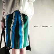 前後で丈が違う、女性らしさを醸し出す。『レトロさと新鮮さを兼ね備わった最愛スカート。』個性的で私らしく。モダンストライプ柄タイトスカート##