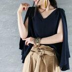 揺れる袖が美人度をあげてくれる。ケープ袖トップス★8月9日20時〜再再販!『シンプルな中に個性を。』##p5【☆】