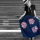 花柄生地がツクル華。やっと出会えた、此処だけのデザイン。★7月27日20時〜再再販!花柄ロングスカート##o6【☆】