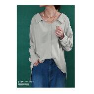 抜け感たっぷり、大人の佇まい。前後差タックシャツ★シャツシンプル##
