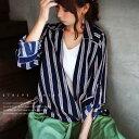 テイスト選ばずストライプ。フェイクシャツ★7月19日20時〜発売!重ね着 デザイン ##o1