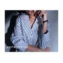 ストライプで構築する新規シャツ。デザインシャツ★10月15日20時〜再再販!ドレープ 裾 ##【☆】