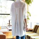 惚れ惚れする、極上のとろみシャツ。バックボタン付きシャツ・1...