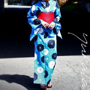 Gran anuncio !! Un vivo amarillo y flor. Conjunto Yukata floral de 3 piezas con obi y zuecos ## × ¡Sin servicio de correo! [198B]