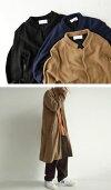きちんと感と着やすさ。しっかり編地の高級感。ガーター編みニットコート・##