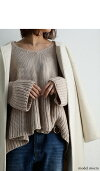 フレアデザインで女の子らしさを大切にしたい。『ふんわりとknitの暖かさに包まれ、フレアの存在が可愛さをくすぐる。』女子の願い叶う愛されニットで寒い季節を一緒に超えたい。裾フレアデザインニット##