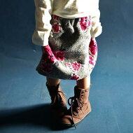 antiquatoy新作!『可憐な桃の花をニッティングで存在感ある一枚。』12月9日10時〜発売!和モダンな花柄で小粋な雰囲気を創る。和花柄スカート##