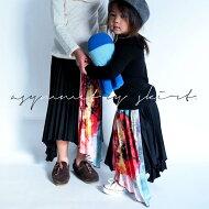 antiquatoy新作!『鮮やかに描かれた極上花柄デザインを切替りで。』1月13日20時〜発売!柄×プリーツの存在感。アシンメトリー花柄プリーツスカート##