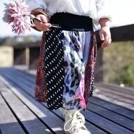 antiquatoy新作!『色トリドリ。華やかに彩る柄切替えスカート。』4月14日20時〜発売!キッズが着ると愛らしいロングstyle。異素材切り替えフレアリブロングスカート##