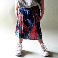 レトロな色使いが可愛い。柄プリーツスカート★7月28日20時〜発売!『軽やかで優しい肌触り。』