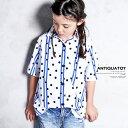 男の子も女の子もお洒落さんになる。ドット&ストライプシャツ・再販。(30)◎メール便可!