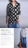 最旬ドットで魅せる、切替えdesign。ドット切替えシャツ・