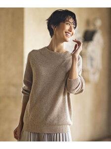 [Rakuten Fashion]【SALE/50%OFF】ラクーン ニット any FAM エニィファム ニット 半袖ニット ベージュ ホワイト グリーン ブルー パープル【RBA_E】