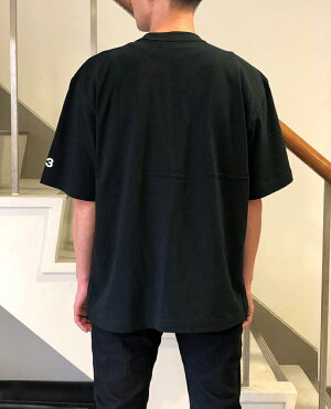 Y-3(ワイスリー)メンズシグネチャーロゴTシャツ(MDISTRESSEDSIGNATURESSTEE)(FQ4114)(BLACK)YohjiYamamotoadidasヨウジヤマモトアディダスTEET-SHIRT半袖ブラック黒あす楽対応