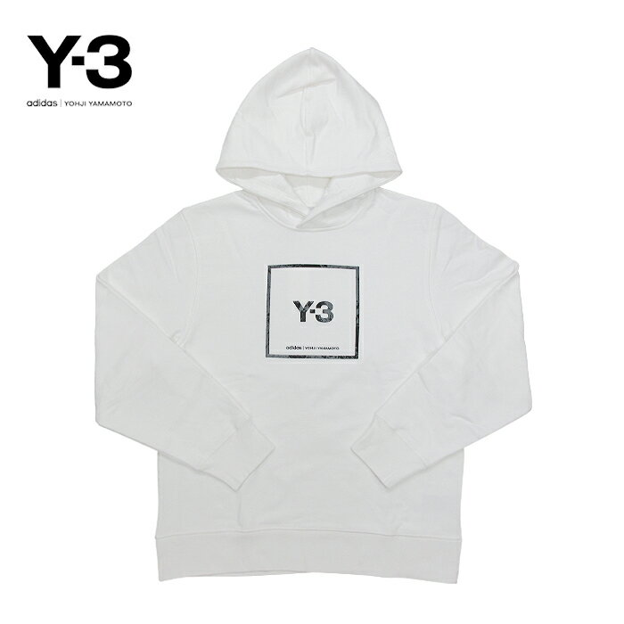 トップス, パーカー Y-3() (U SQ LBL GRAPHIC HOODIE)(GV6054)(CORE WHITE)Yohji Yamamoto adidas